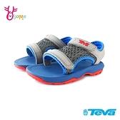 TEVA童鞋 寶寶鞋 男童涼鞋 機能涼鞋 PSYCLONE XLT 運動涼鞋 兒童涼鞋 魔鬼氈涼鞋 J6688#藍灰