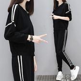 休閒套裝女秋裝2018新款時尚大碼胖mm女裝學生顯瘦運動跑步兩件套1/8