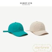 帽子女薄款棒球帽男字母刺繡鴨舌帽亮色防曬遮陽帽韓版【繁星小鎮】