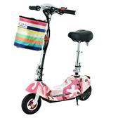 電動車 威科朗小海豚折疊迷妳電動車兩輪代步小型電動滑板車自行車電瓶車  MKS阿薩布魯