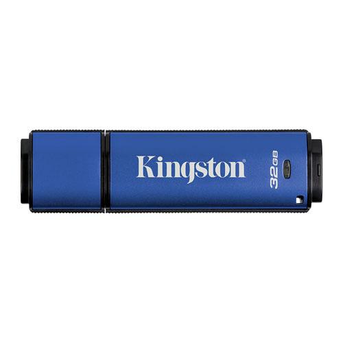 Kingston 金士頓 DataTraveler Vault Privacy 3.0 32G B U3 防水 加密 隨身碟 (DTVP30/32GB)