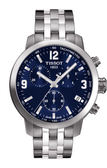 【僾瑪精品】TISSOT PRC 200 競速三眼時尚男用腕錶-銀x藍/42mm/T0554171104700