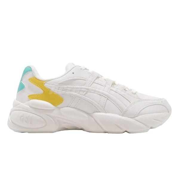 Asics 復古慢跑鞋 Gel-Bnd 米白 黃 休閒鞋 基本款 老爹鞋 男鞋 亞瑟士【ACS】 1021A217102