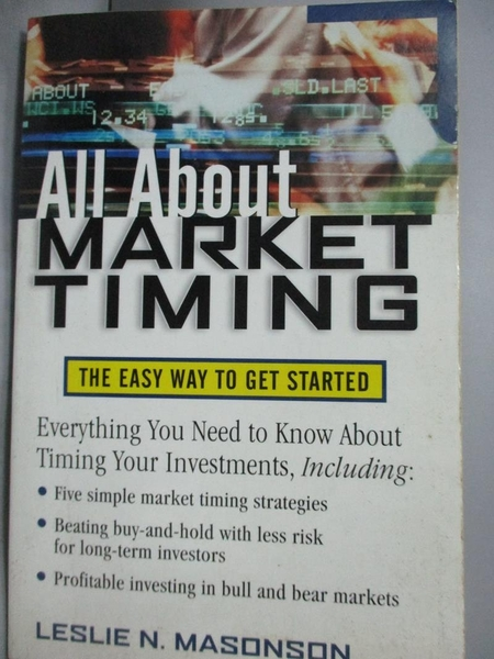 【書寶二手書T4/行銷_QIV】All About Market Timing: The Easy Way to Get
