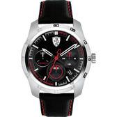 Scuderia Ferrari 法拉利 PRIMATO 計時手錶-黑/44mm FA0830444