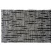 HOLA PVC編織餐墊30x45cm 波紋黑