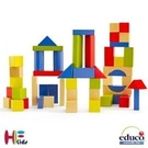 《德國educo愛傑卡》彩色創意積木組(50塊) Maple Block Set - 50 pieces