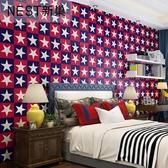 壁貼-牆紙pvc防水溫馨兒童房壁紙星星宿舍寢室臥室揹景牆壁紙翻新貼紙
