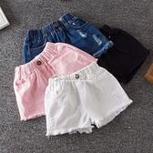 女童夏裝牛仔短褲 2021中大童純棉三分褲 寶寶夏季短褲子 寬鬆 快速出貨
