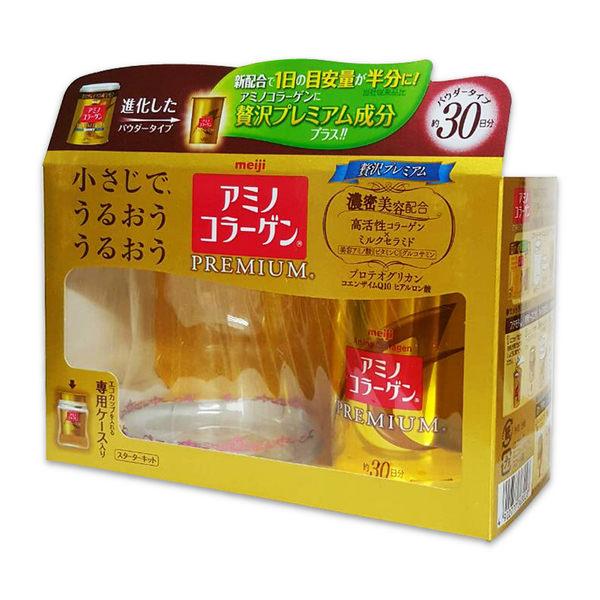 日本 meiji 日本 明治膠原蛋白粉黃金新濃縮進化版30日份杯組 90g 2019/04 白金尊爵版 PG美妝