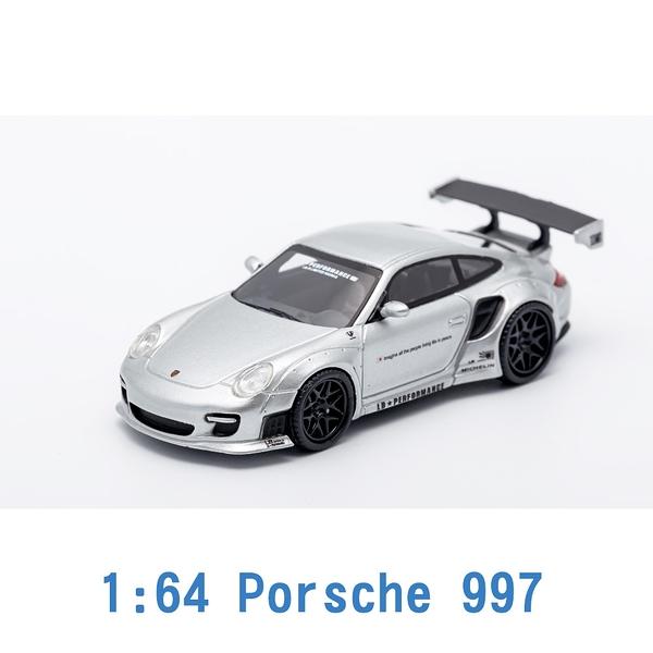 Scale Box 1/64 模型車 Porsche 保時捷 997 SB640002H 銀色