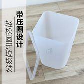 歐式創意家用大號磨砂垃圾桶辦公室紙簍塑料帶壓圈大碼方形垃圾桶   LannaS