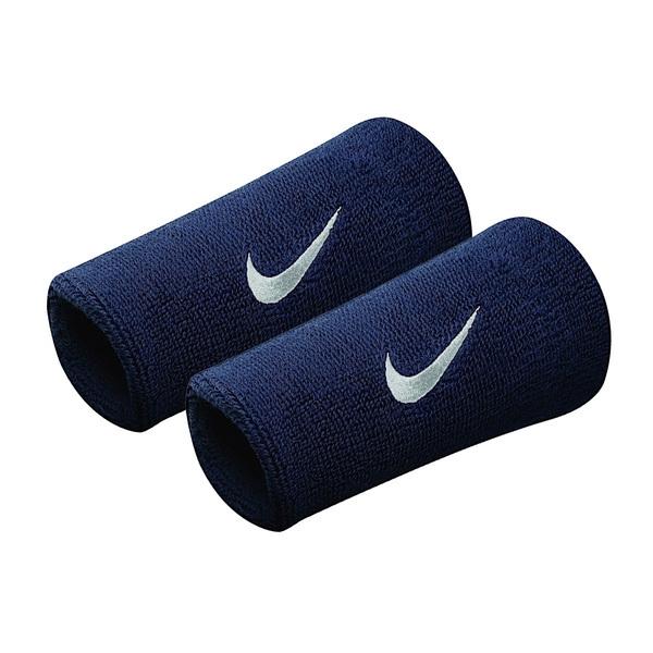 Nike Swoosh DW [NNN05416OS] 加長 護腕 腕帶 運動 打球 健身 吸濕 排汗 乾爽 彈性 深藍