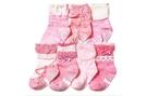 [韓風童品] (7雙/組)女童蝴蝶結襪子 防滑點膠襪 兒童襪子 女童襪子 嬰幼兒棉質襪