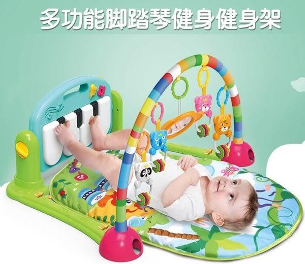 *粉粉寶貝玩具*超級新款~多功能加厚款腳踏鋼琴健身架遊戲毯~多功能聲光健力架~寶寶音樂遊戲毯~
