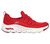 Skechers ARCH FIT LUCKY THOU [149056RED] 女鞋 運動 休閒 健走 慢跑 緩衝 紅