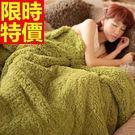 毛毯子冬款經典款-法蘭絨純色毛絨加厚小毯...