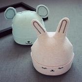 新生兒0-4個月帽子胎帽加厚加絨耳朵嬰兒帽秋冬寶寶套頭帽子純棉