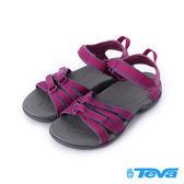 【TEVA 促銷9折】Tirra 輕量魔鬼氈織帶涼鞋 莓果紫紅 TV4266BYSB 女鞋