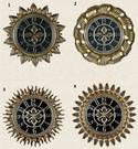歐式掛鐘大號客廳靜音復古美式掛表大氣時鐘創意太陽石英鐘表
