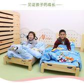 兒童床 幼兒園床午休床托兒所單人實木床幼兒折疊床早教午睡床帶圍欄【全館免運】