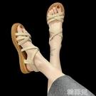 平底涼鞋 涼鞋新款女夏季百搭學生仙女風平底鞋牛筋軟底沙灘鞋ins潮 韓菲兒