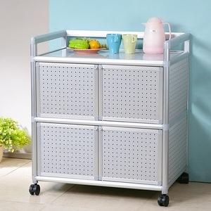 Homelike 鋁合金2.5尺四門收納櫃