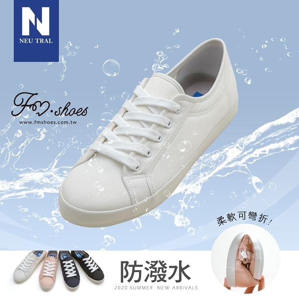 小白鞋.防潑水棉質小白鞋-白-FM時尚美鞋-NeuTral.Moment