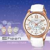 Sheen 個性甜美 39mm/SHE-3806GL-7A/Swarovski/SHE-3806GL-7AUDR 現貨!