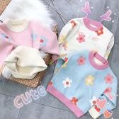 女童毛衣秋 加絨加厚兒童套頭針織衫中小童線衣寶寶上衣打底衫小山好物