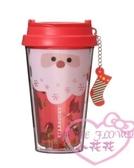 ♥小花花日本精品♥ 星巴克聖誕節限定聖誕老公公紅色塑膠保溫杯 01023701