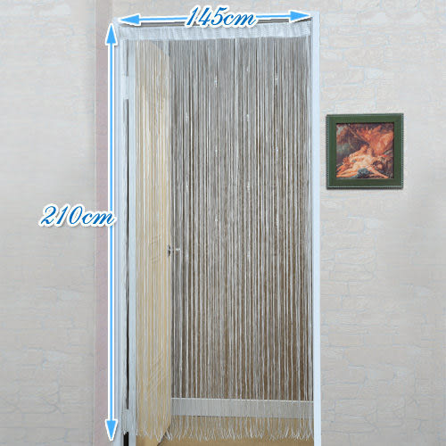 《家購網寢俱館》芸佳系列-白色珠墜蜜絲簾(145x210)