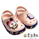 【樂樂童鞋】巴布豆漢堡布希鞋-粉色 C089 - 女童鞋 男童鞋 涼鞋 布希鞋 室內鞋 沙灘鞋 拖鞋