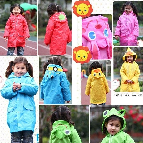 *甜蜜蜜親子童裝*日單《可愛造型款》兒童造型雨衣@ 100-120cm