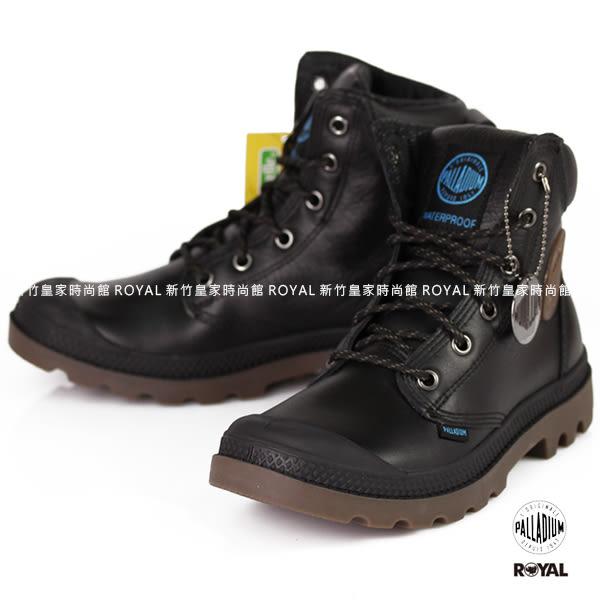 Palladium 新竹皇家 PAMPA SPORT 黑色 防水系列 軍靴 皮質 高筒 男女款 NO.A9255