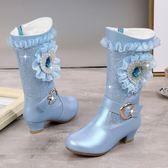 長靴童鞋 女童高跟靴子韓版公主棉靴兒童長靴秋冬童鞋小女孩高筒靴   傑克型男館