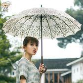 沛欣小清新森系復古傘長柄傘16骨櫻花傘大傘面日式雨傘女士 極度潮客 igo