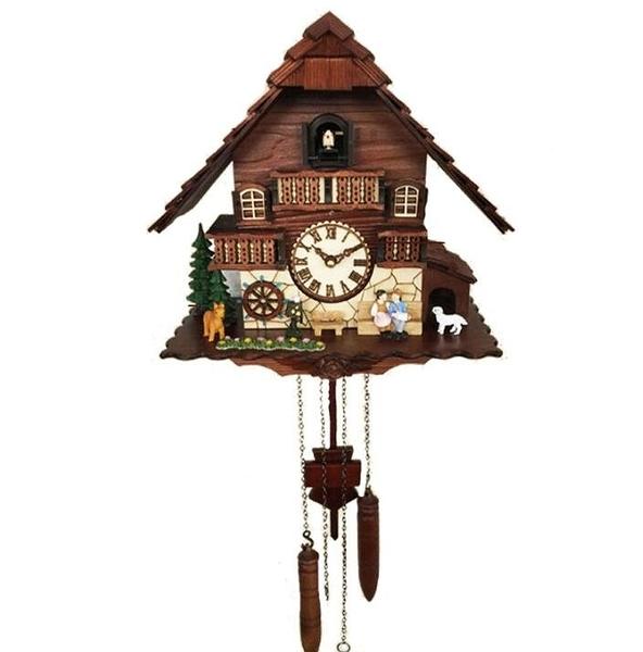 布穀鳥掛鐘客廳家用報時咕咕鍾德國黑森林創意藝術實木鐘錶2622