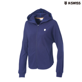 K-SWISS Hooded Sweat Zip Up連帽外套-女-藍