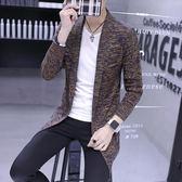 針織外套    2018秋季新款開衫毛衣中長款冬季外套針織衫披風