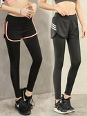 秋季瑜伽褲女健身房運動緊身褲速幹高彈力跑步假兩件長褲網紅促銷好物