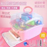 嬰兒奶瓶干燥收納箱大號便攜式帶蓋防塵寶寶用品餐具儲存盒晾干架 非凡小鋪 igo