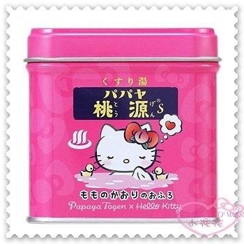 ♥小花花日本精品♥ Papaya Togen x Hello Kitty 品牌合作 泡澡劑 日本限定 999411802