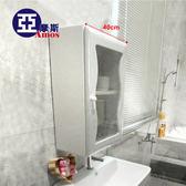 浴室置物架 浴櫃 收納櫃【GAN007】波浪單門防水塑鋼浴櫃 櫃寬度40cm Amos