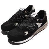 New Balance 復古慢跑鞋 NB 580 黑 灰 白底 麂皮 休閒鞋 男鞋 女鞋【PUMP306】 MRT580BND