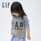 Gap女幼童 Gap x Snoopy 史努比系列 Logo純棉短袖T恤 771083-灰色