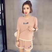 睡衣女夏季純棉短袖韓版清新學生可愛寬鬆夏天大碼兩件套裝家居服