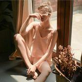性感睡衣女夏絲滑波絲緞吊帶睡衣睡褲家居服套裝送眼罩 7月最新熱賣好康爆搶