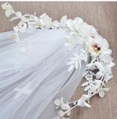 金豬迎新 新款2018韓式新娘白紗婚紗發箍甜美白色簡約蕾絲花環結婚頭飾飾品