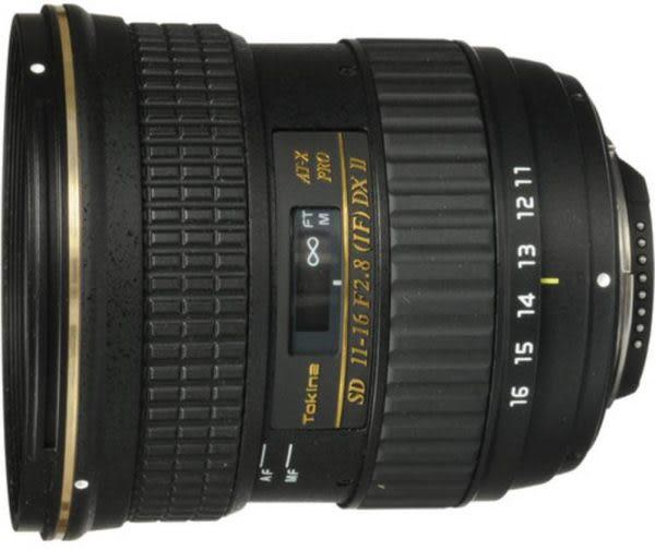 【映像數位】Tokina AT-X 116 PRO DX II AF 11-16mm F2.8 II 廣角變焦鏡 (平輸。全新) B